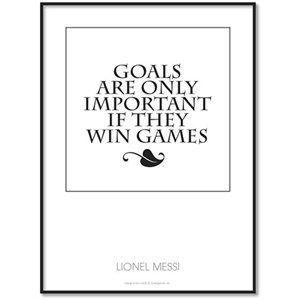 All Wall Art Fanplakat - Lionel Messi Citat (goals) 50x70