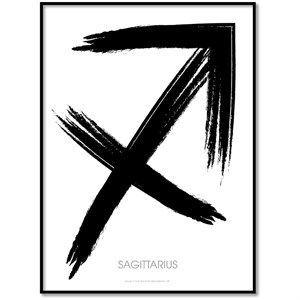 All Wall Art Plakat - Stjernetegn - Skytten 50x70