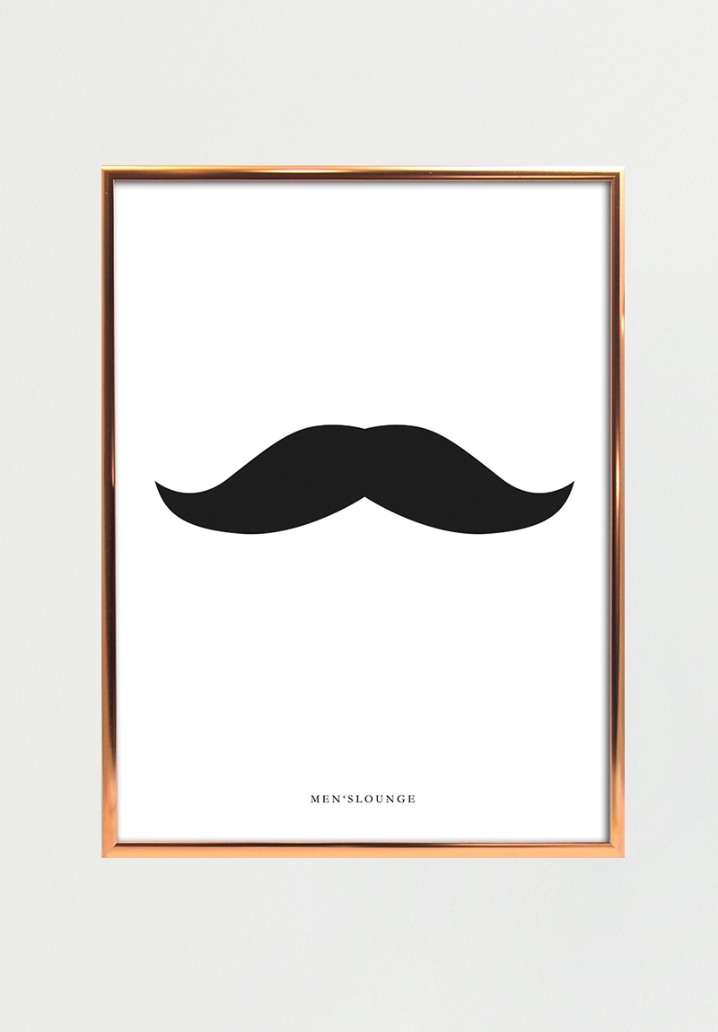 Black Moustache 30x40