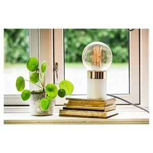By Holmer - Pipe Lamp Hvid/guld - Højde 11 Cm