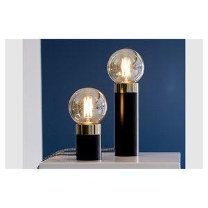 By Holmer - Pipe Lamp Sort/guld - Højde 24 Cm