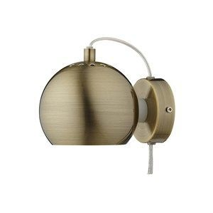 Frandsen Lighting Ball Væglampe I Antique Brass/mat - M. Transparent Ledning