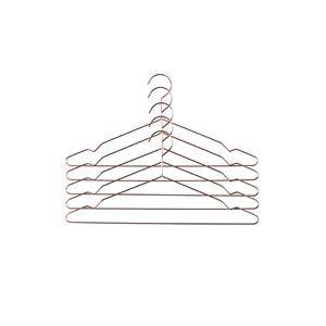 """Hay - """"hang"""" Bøjle I Anodiseret Aluminium (sæt Med 5 Stk) - Copper"""