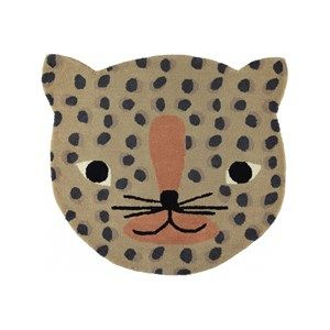 Oyoy - Leopard Gulvtæppe - Brun