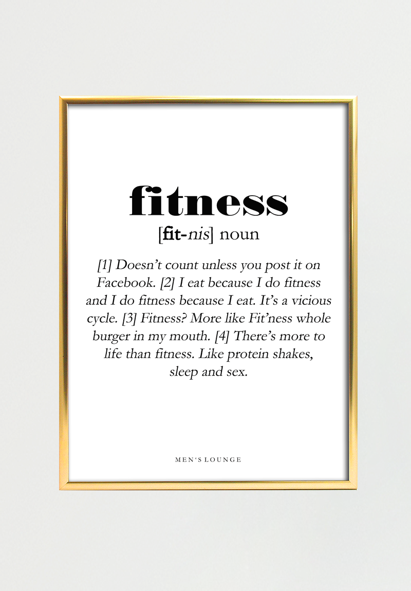 Fitness Definition 50x70