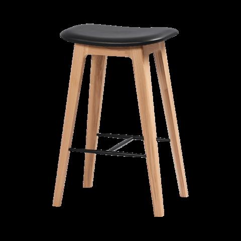 Sackit Nordic Barstol - Oak 68 Cm / Ultra Black Uden