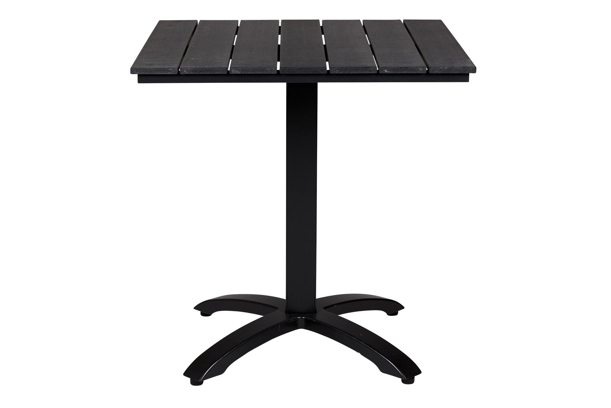 Anzio Sort Nonwood Cafebord 70x64 Cm Med Sort Aluminium Stel